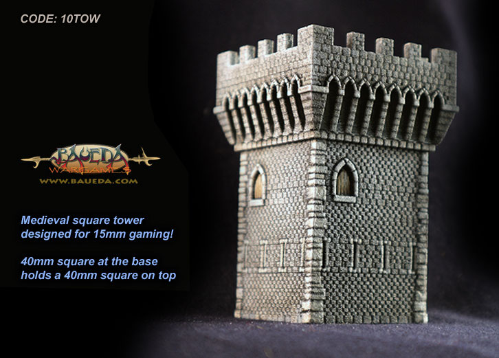Medieval Tower 40x40mm [BA-10TOW]